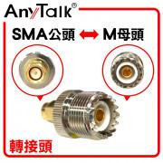 SMA 公頭 轉 M 母頭 轉接頭 無線電 對講機 專用 轉換 銜接 對接