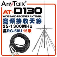 AT-D130 基地台專用 寬頻接收天線 全長170CM 含RG-58U 15米