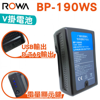 ROWA 樂華 FOR SONY BP-190WS V掛鋰電池